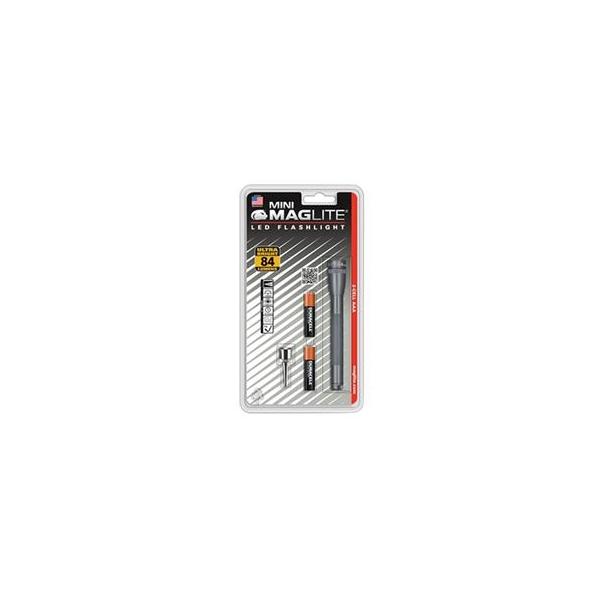 Maglite SP32096 Mini-Mag  LED Flashlight 2AAA Gray
