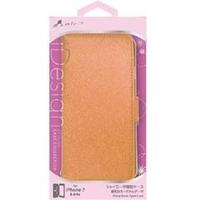 c3cbba583b エアージェイ iPhone7/6/6s専用シャイニー素材手帳型ケース オレンジ ACP7SHYOR